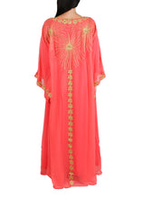 Load image into Gallery viewer, Kaftan Design # 7200 - Coral - Free Size