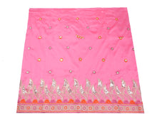 Load image into Gallery viewer, Machine Embroidered George Wrapper Design # 7062 - Baby Pink - Without Blouse