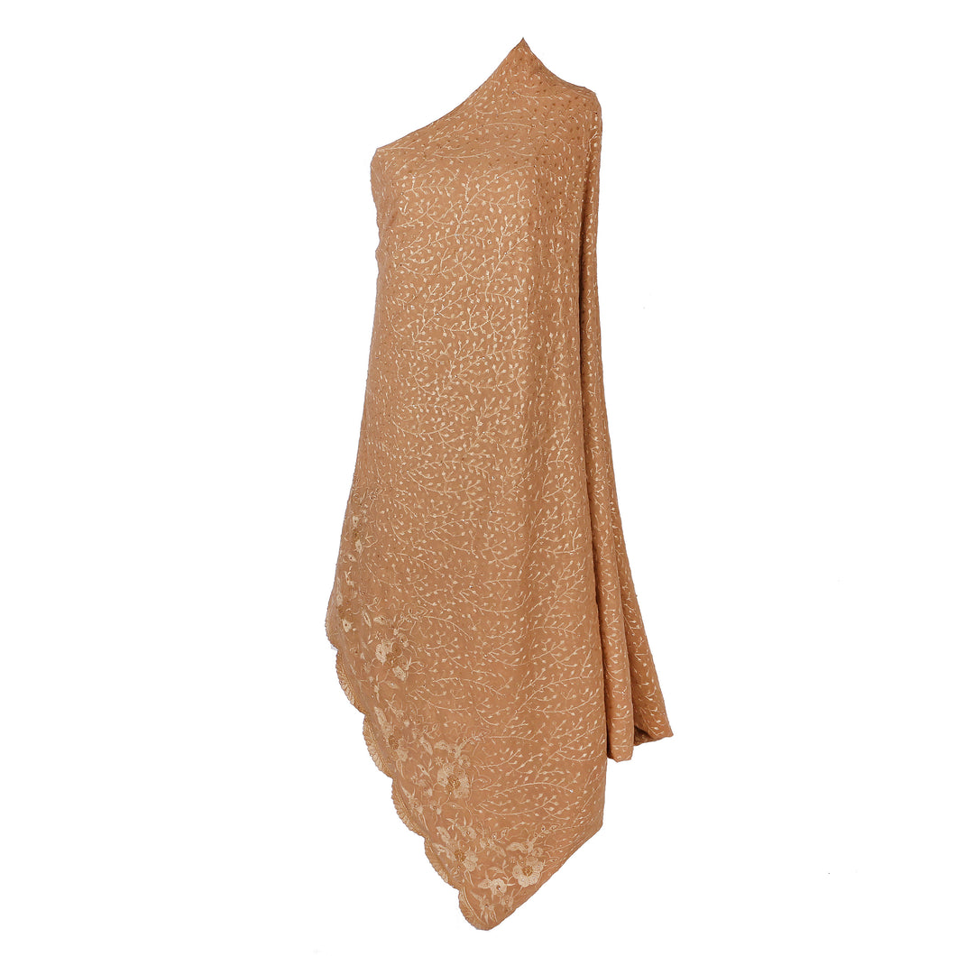 Wrap Around Scarf  Design # 2006 - Champagne Gold - 5 Yard Piece