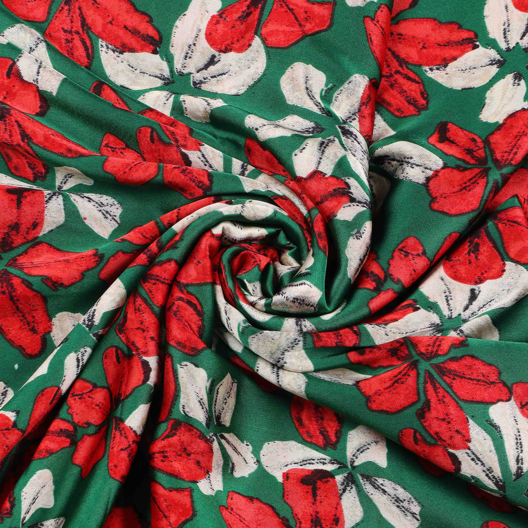 Printed Satin Design # 1019 - 5 Yard Piece