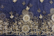 Hand Stoned George Wrapper Design # 6503 - Navy Blue - With Blouse