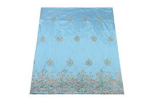 Hand Stoned George Wrapper Design # 6731 - Sky Blue - With Blouse