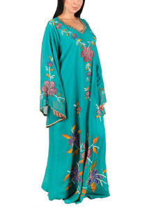 Kaftan Design # 7177  -  Teal Blue