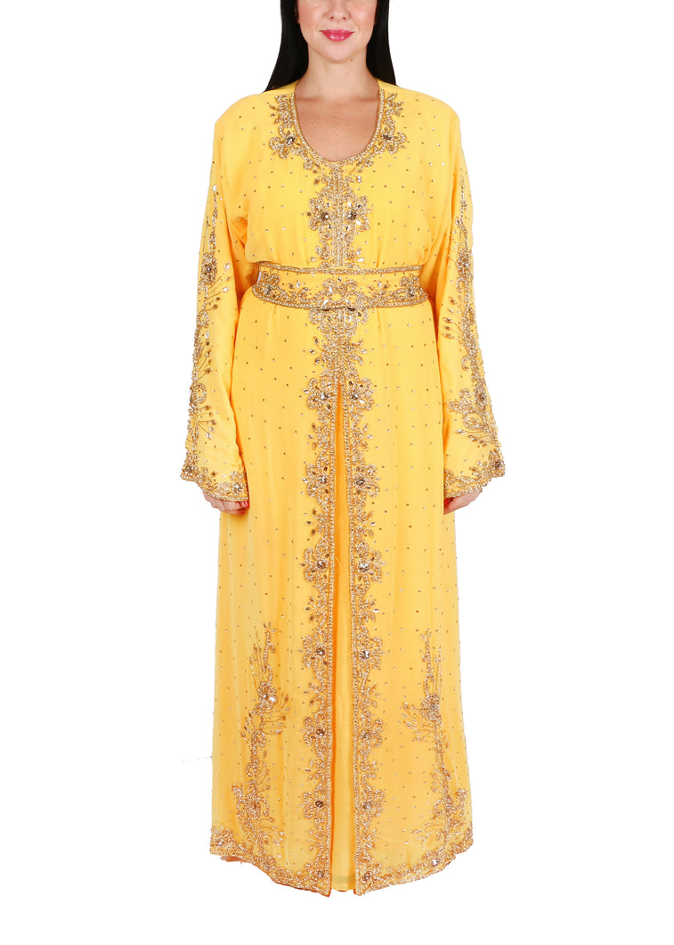 Kaftan Design # 7096 - Yellow