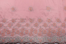 Load image into Gallery viewer, Machine Embroidered George Wrapper Design # 7402 - Peach - With Blouse
