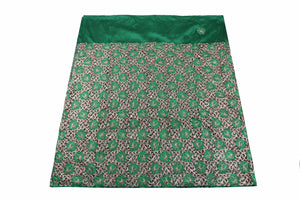 Machine Embroidered George Wrapper Design # 7387 - Pure green - With Blouse