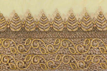 Load image into Gallery viewer, Hand Embroidered Blouse Design # 3363 - Yellow - With Blouse - 1.7 Yards