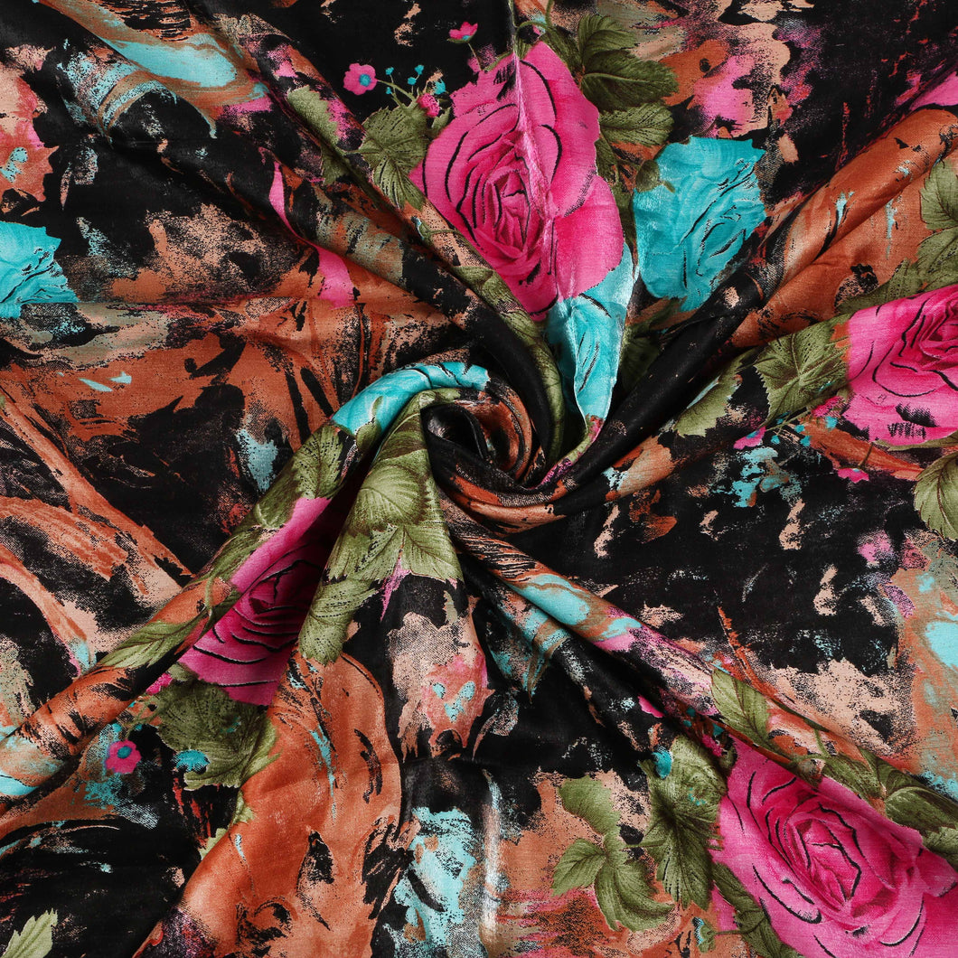 Printed Satin Design # 1066 - 5 Yard Piece