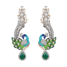 Load image into Gallery viewer, Dancing Peacock Earrings - Design # 7049