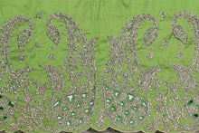 Load image into Gallery viewer, Hand Stoned George Wrapper Design # 6714 - Lime Green - With Blouse