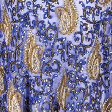 Load image into Gallery viewer, Hand Embroidered Fabric Design # 4108 - Royal Blue - Per Yard