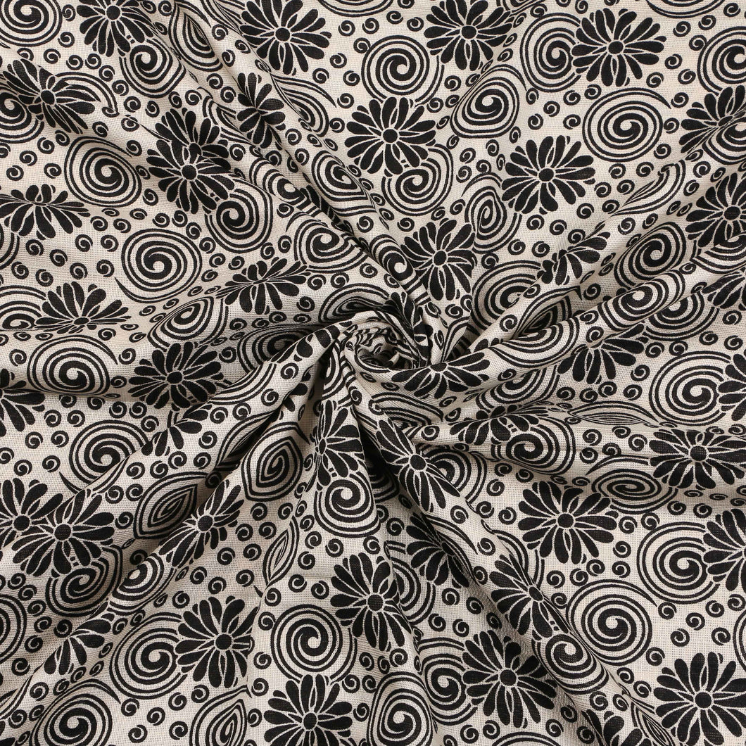 Printed Satin Design # 1068 - 5 Yard Piece
