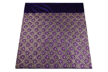 Load image into Gallery viewer, Machine Embroidered George Wrapper Design # 7429 - Purple - With Blouse