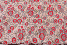 Load image into Gallery viewer, Hand Stoned George Wrapper Design # 6745 - Peach - With Blouse