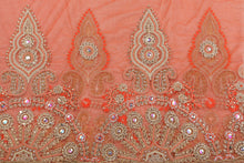 Load image into Gallery viewer, Hand Embroidered Blouse Design # 3342 - Burnt Orange - 1.75 Yards