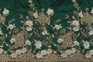 Hand Stoned George Wrapper Design # 6711 - Pure Green - With Blouse