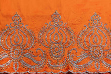 Load image into Gallery viewer, Hand Stoned George Wrapper Design # 6742 - Burnt Orange - With Blouse