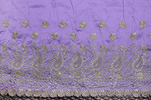 Load image into Gallery viewer, Machine Embroidered George Wrapper Design # 7399 - Lilac - With Blouse