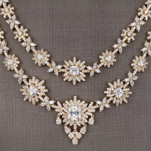 Floral Styled Necklace Complete Set - Design # 8025