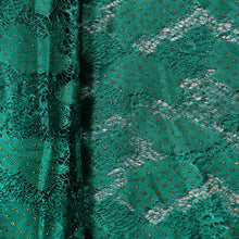 Load image into Gallery viewer, Supreme Lace Design # 3001 - Pure Green  - 5 Yard Piece