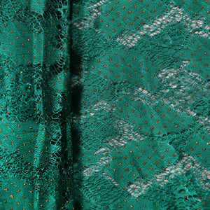 Supreme Lace Design # 3001 - Pure Green  - 5 Yard Piece
