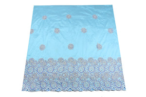 Hand Stoned George Wrapper Design # 6709 - Sky Blue - With Blouse