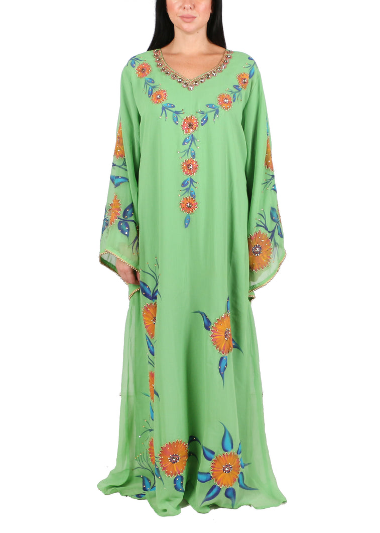 Kaftan Design # 7176  -  Lime Green