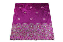 Load image into Gallery viewer, Hand Stoned George Wrapper Design # 6681 - Purple - With Blouse