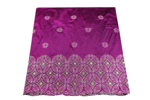 Hand Stoned George Wrapper Design # 6681 - Purple - With Blouse