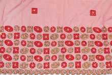 Load image into Gallery viewer, Hand Embroidered Blouse Design # 3292 - Red - 1.7 Yards