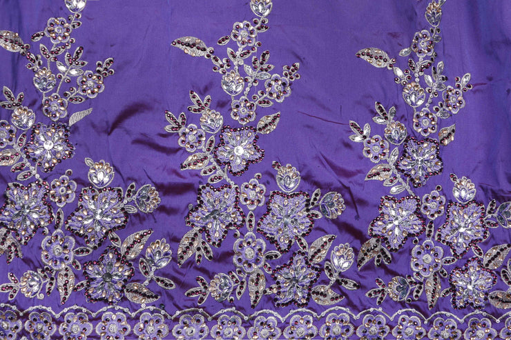 Hand Stoned George Wrapper Design # 6589 - Lilac - With Blouse
