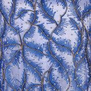 Hand Embroidered Fabric Design # 4112 - Royal Blue - 5 Yard Piece
