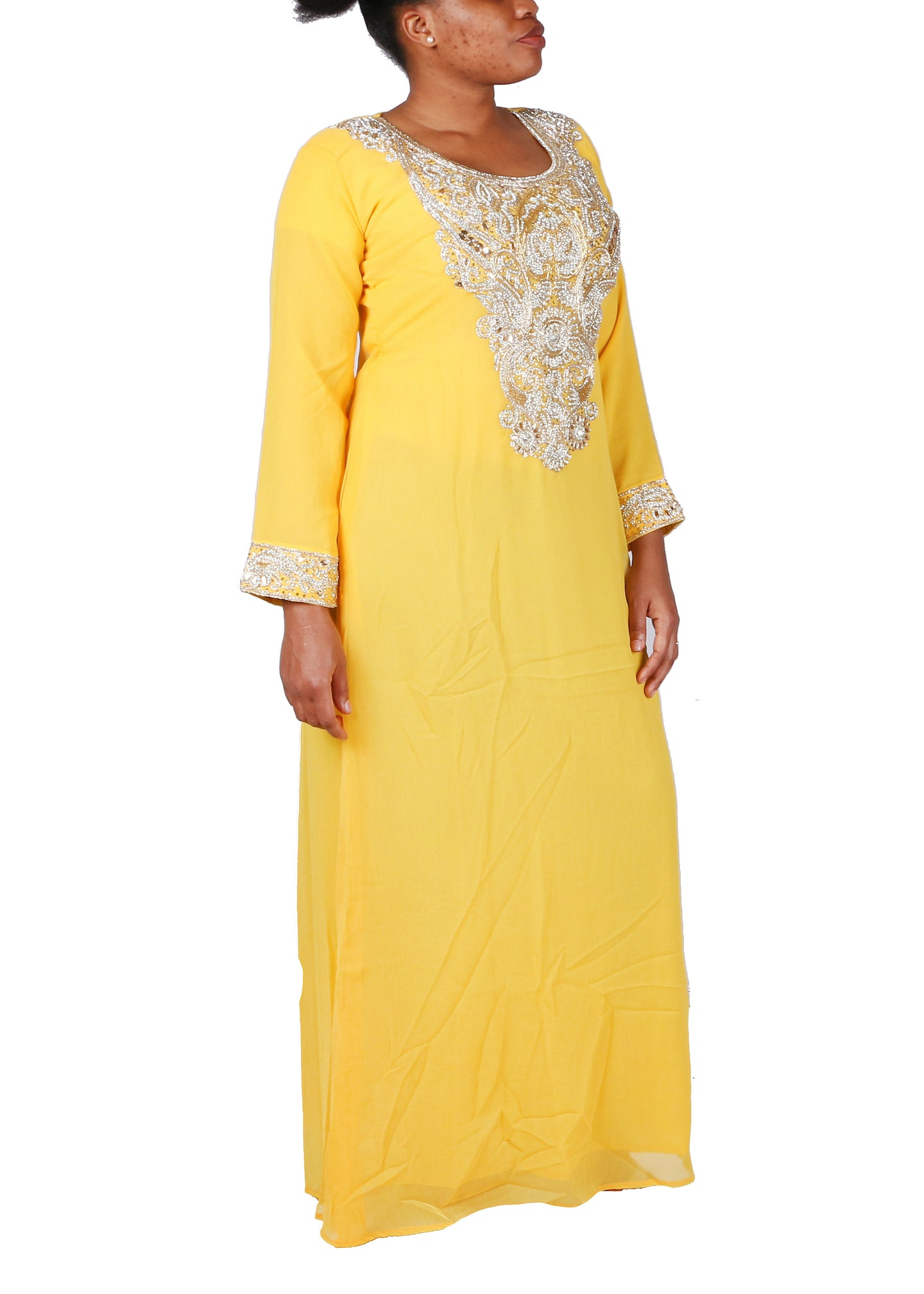 Kaftan Design # 7055 - Yellow