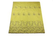 Load image into Gallery viewer, Machine Embroidered George Wrapper Design # 7403 - Yellow - With Blouse
