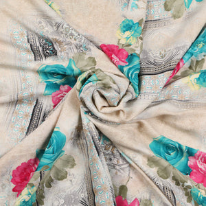 Printed Satin Design # 1020 - 5 Yard Piece
