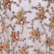 Hand Embroidered Fabric Design # 4160 - Dusty Pink - 5 Yard Piece