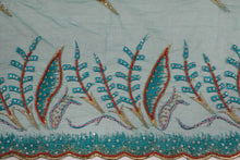 Load image into Gallery viewer, Hand Embroidered Blouse Design # 3323 - Teal Green - 1.7 Yards
