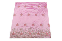 Load image into Gallery viewer, Hand Stoned George Wrapper Design # 6731 - Baby Pink - With Blouse