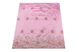Hand Stoned George Wrapper Design # 6731 - Baby Pink - With Blouse