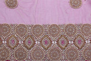 Hand Embroidered Blouse Design # 3170 - Purple - 1.7 Yards
