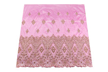 Load image into Gallery viewer, Hand Stoned George Wrapper Design # 6722 - Baby Pink - With Blouse