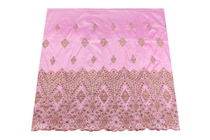 Hand Stoned George Wrapper Design # 6722 - Baby Pink - With Blouse
