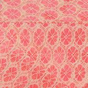 Supreme Lace Design # 3005 - Beige With  Peach   - 5 Yard Piece