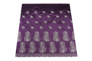 Hand Stoned George Wrapper Design # 6739 - Purple - With Blouse