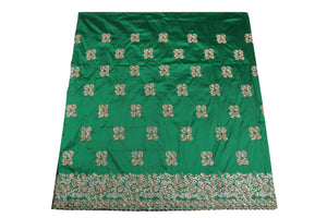Hand Stoned George Wrapper Design # 6647 - Pure Green - With Blouse