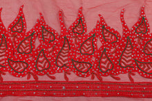 Load image into Gallery viewer, Hand Embroidered Blouse Design # 3294 - Red - 1.7 Yards