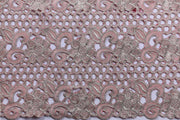 Machine Embroidered George Wrapper Design # 7393 - Peach - With Blouse