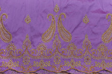 Load image into Gallery viewer, Hand Stoned George Wrapper Design # 6688 - Lilac - With Blouse