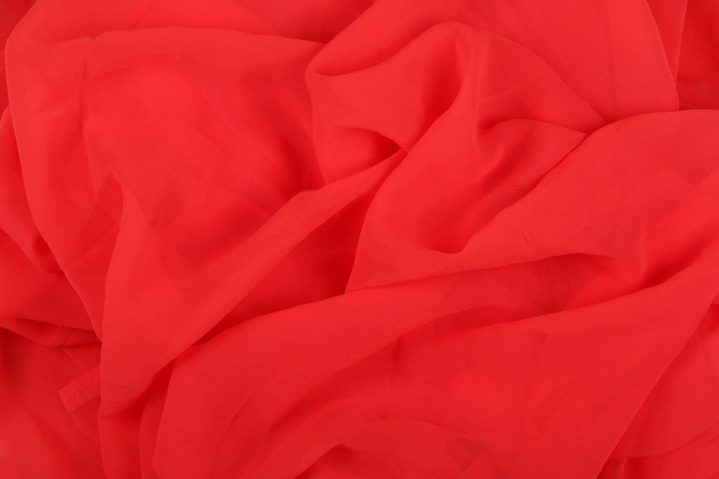 Plain Georgette - Coral - 5 yard Piece