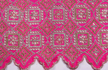 Load image into Gallery viewer, Hand Stoned George Wrapper Design # 6546 - Fuchsia Pink - With Contrast Blouse